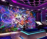 RTYUIHN 3D Wall Stickers Bedroom Wallpaper 3D Splash Ink Graffiti 3D Silk Photo Wallpaper Wall