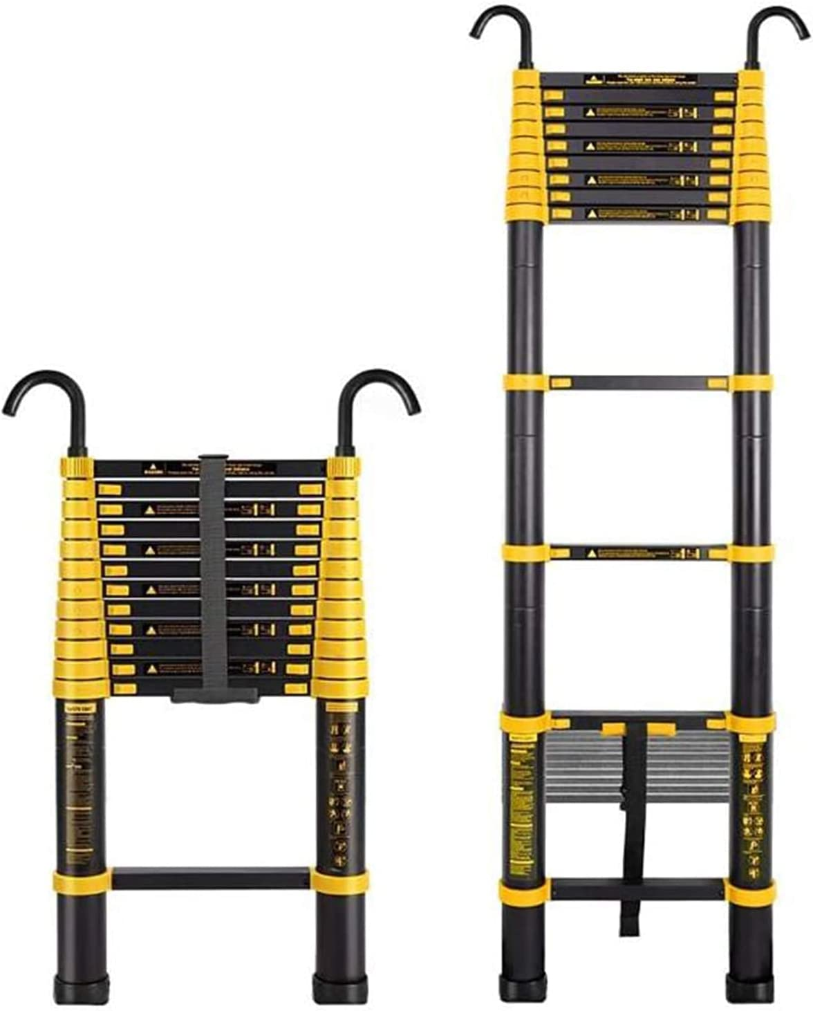 Heavy Duty Telescoping Ladder with Out for Sacramento Mall Home Hooks 35% OFF Detachable