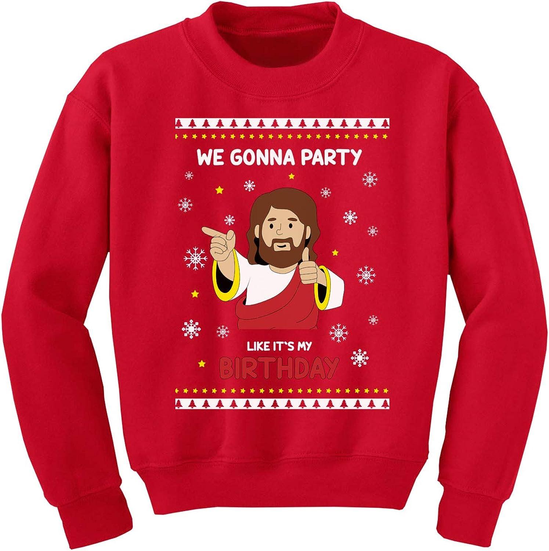 Awkward Styles Kids Jesus Funny Christmas Sweater Girls Boys - Holiday Youth Religious - Xmas Sweatshirt
