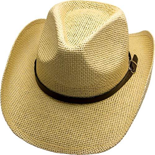 Running Bear Cowboyhut Strohhut James Dean Cowboy Hut - Gr. S 52-56 cm Westernhut Wild West Line Dance Kleidung