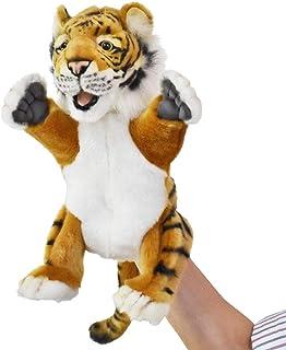 HANSA Toys USA 4039 Plush Hand Puppet Tiger