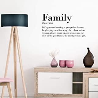 Vinyl Art Wall Decal - Family Definition - 16