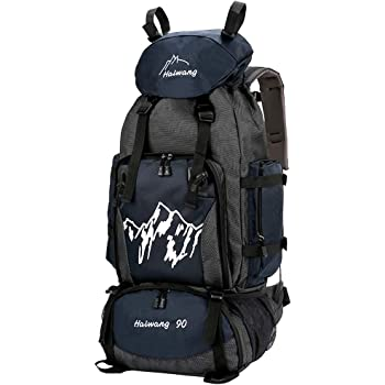SPAHER 90L Trekking Rucksack Hiking Camping Backpack Travel Daypack Knapsack Military Army Molle Tactical Luggage Shoulder Bag For Outdoor Sports Climbing Mountaineering Biking Cycling School Navy