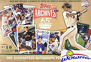2016 Topps Archives 65th Anniversary Edition Factory Sealed Box with HAND SIGNED AUTOGRAPH! Look for Autographs & Cards of Ken Griffey Jr, Mike Trout, Cal Ripken Jr, Buster Posey & Many More! WOWZZER!