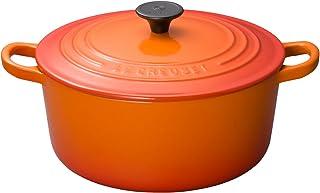 ル・クルーゼ(Le Creuset) 鋳物 ホーロー 鍋 ココット・ロンド 22 cm オレンジ ガス IH オーブン 対応 【日本正規販売品】