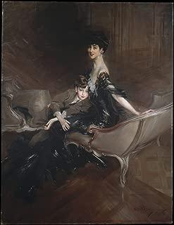 Art Print - Painting Consuelo Vanderbilt (1876–1964), Duchess of Marlborough, and Her Son, Lord Ivor Spencer-Churchill (1898–1956)