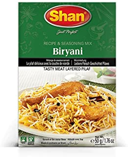 Shan Biryani Seasoning Mix for Tasty Meat Pilaf, 50g (Pack of 6)