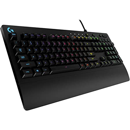 Logitech G213 Prodigy Gaming Keyboard, RGB Lightsync Backlit Keys, Spill-Resistant, Customizable Keys, Dedicated Multi-Media Keys, AZERTY French Layout, Nero