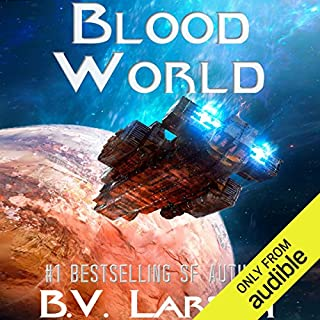 Blood World     Undying Mercenaries, Book 8              Written by:                                                                                                                                 B. V. Larson                               Narrated by:                                                                                                                                 Mark Boyett                      Length: 12 hrs and 31 mins     55 ratings     Overall 4.6
