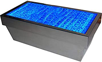 Ewaterfeatures EWF244813 Bubbling Coffee Table Patio Colour Changing, Iron/Silver