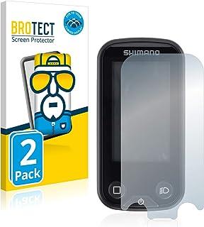 BROTECT Full-Cover Screenprotector compatibel met Shimano Steps SC-E6100 (2 Stuks) - Full-Screen Schermbeschermer, 3D Curved