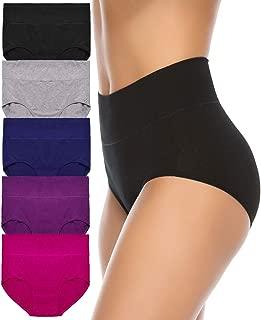 Women's High Waist Cotton Underwear Soft Brief Panties...
