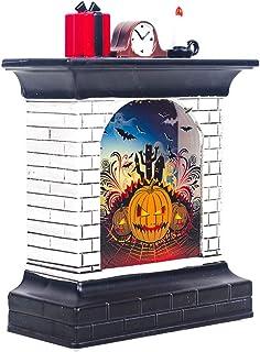 Amosfun Mini Decoraciones de época Luces de la Chimenea Lámpara Lámpara Luz de Halloween Luz de Noche Decoración de decoración Props para Fiesta Hogar (con batería)