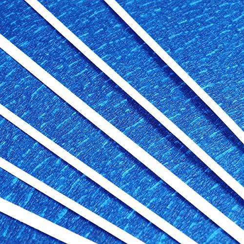 Nastro per Stampante 3D, 6 Fogli Nastro Adesivo di Gomma Nastro Adesivo Resistente Al Calore per Alte Temperature, 210mm x 200m per Stampante 3D Riscaldamento Letto/Stampa Letto (Blu)