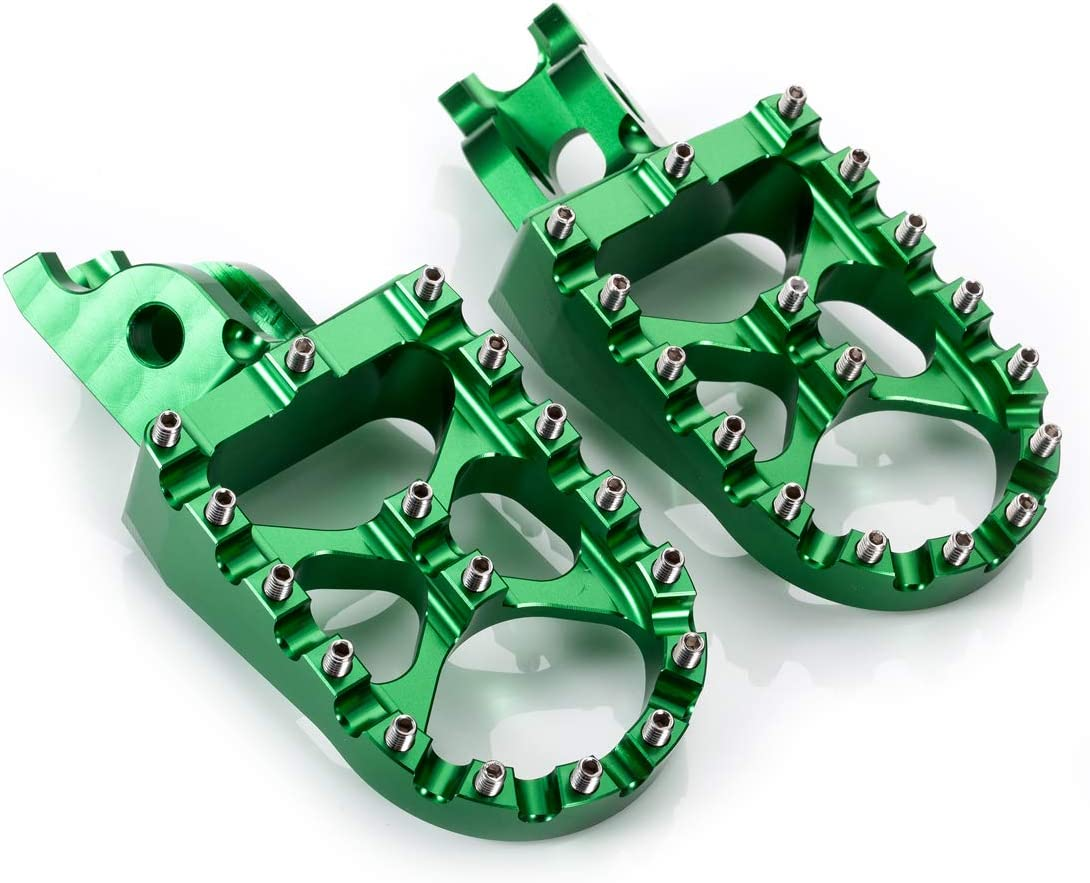 sale Hopider CNC Wide Foot Pegs KX250F Great interest MX Compatible with 2006-2018