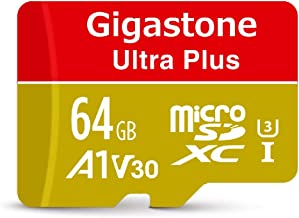 Gigastone 64GB Micro SD Card, 4K Video Recording, 4K Game Pro, Nintendo Switch Compatible, R/W up to 100/60MB/s, Micro SDXC UHS-I A1 V30 Class 10