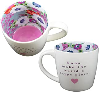 Two Up Two Down Mug Ceramic Tea/Coffee Inside Out Mug - NAN'S MAKE THE WORLD A HAPPY PLACE