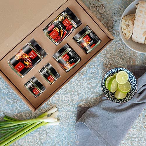 Grillgewürze 6x für Fleisch, Fisch und Geflügel - Geschmackserlebnis aus Naturzutaten - Barbeque Geschenkbox - Mabura aus Österreich