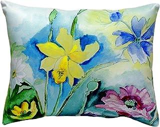 """Betsy Drake NC194 Betsy's Florals No Cord Pillow,,16"""" X20"""""""