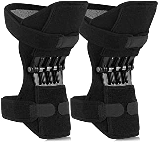hjj 2 Pack Power Knee Brace Joint Support, Breathable Protective Booster Gear Powerful Rebound Spring Force Easy Wear, for...