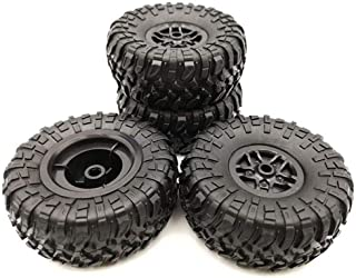 HONG YI-HAT 4 Pcs RC Car Tires Wheels Rims Set for MN D90 D91 RC Car Spare Parts Crawler Car Assembled Tyre for Truck Part...