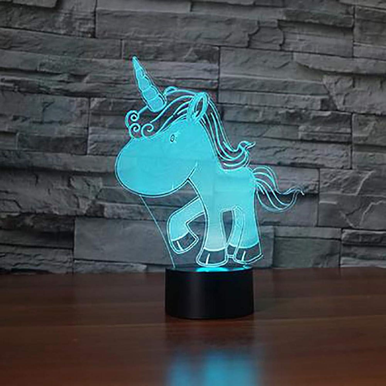 barato en alta calidad WZYMNYD Novedad Sensor Sensor Sensor de luz USB Lámpara de Escritorio de Colors Degradado Unicornio Led Animal Luz de la Noche Dormitorio Decoración Touch Iluminación Accesorio Regalo  el más barato
