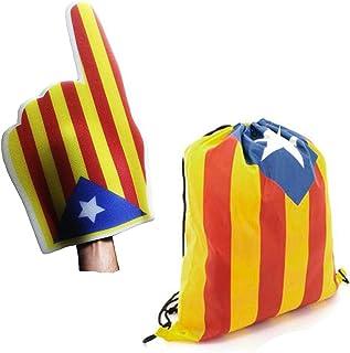 FUN FAN LINE® - Set spécial ! Catalunya Independent/Cataluña Sac à Dos et Main géant en Mousse émaillée