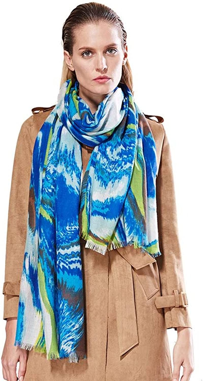Fashion Pure Wool women's Scarves Printing Wraps Long Stole Shawl(200cmx75cm),1
