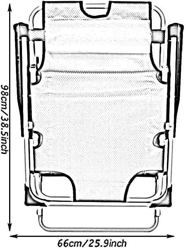 3 Gear Presidente de Ajuste Cero Gravedad Silla Perezosa con Brazos de campa/ña al Aire Libre de Viaje Jard/ín Hamaca Cubierta de la Siesta de Ocio Silla reclinable JFya Tumbona reclinables Hamaca