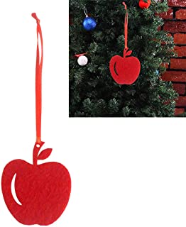 WillowswayW 10Pcs Christmas Tree Red Apple Hanging Ornament Pendant Xmas Party Decoration - Red