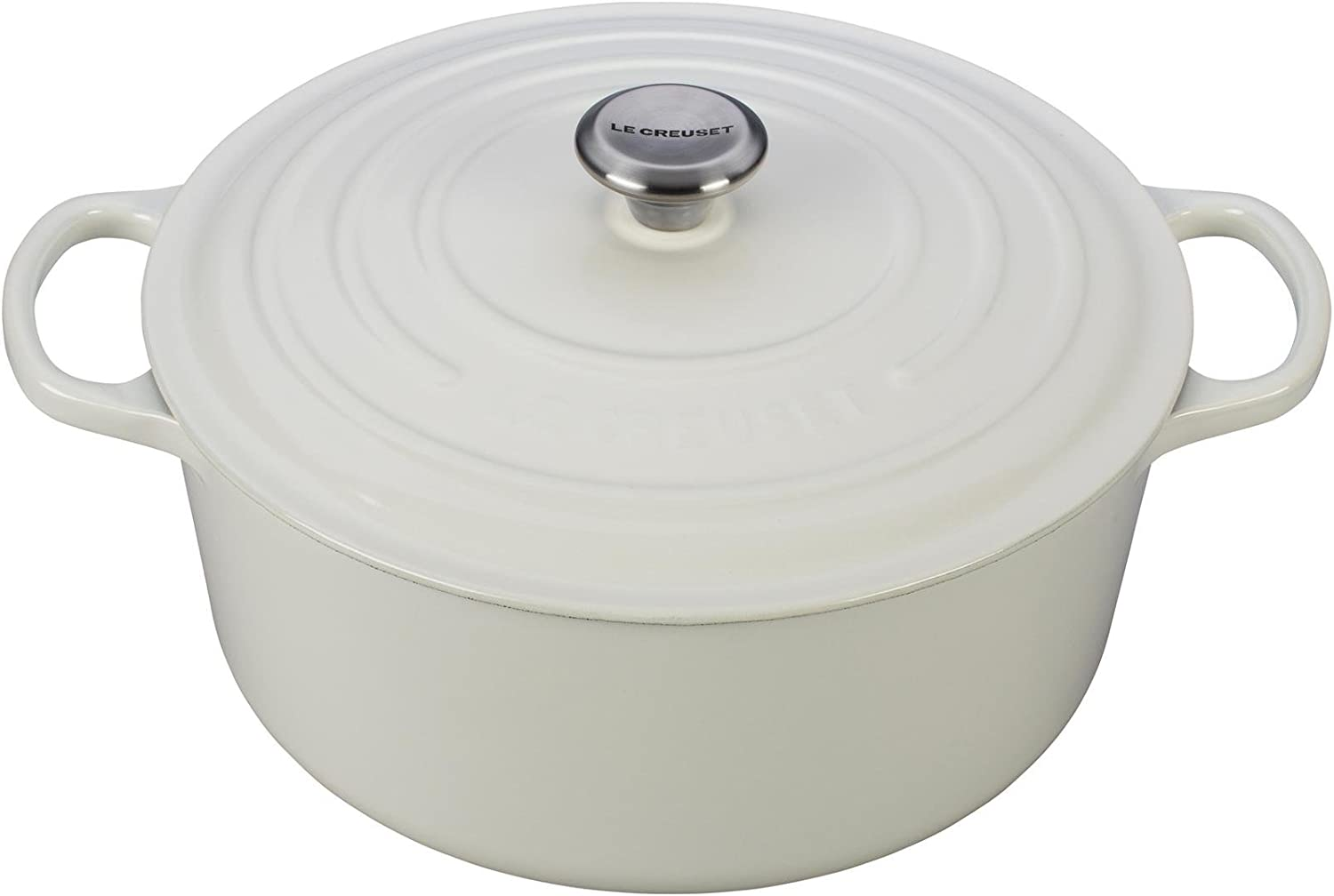 Le Creuset Enameled Cast Iron Signature Round Dutch Oven, 9 qt., White