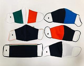 Set 4 maschere copri naso e bocca colori bandiera Italiana, set 4 pezzi