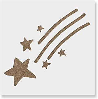 Shooting Star Stencil for Walls and Crafts - Reusable Stencils of a Shooting Star for Painting in Small & Large Sizes - Made in USA