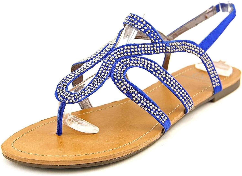 Material Girl Serena Flat Thong Sandals Cobalt