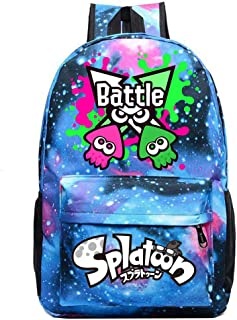 Splatoon Mochila Casual Mochila Original de la Marca Tide Versión Coreana de la Mochila Deportiva de la Bolsa de Estudiante Universitario Simple (Color : Light Blue03, Size : 30 X 13 X 43cm)