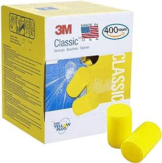 3M Classic Earplugs 200 Pair (400 Count) in Bulk Value Pack, E.A.R Foam Ear Plugs