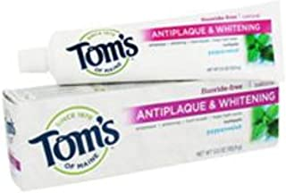 Tom's of Maine Tom'S Of Main Antiplaque & Whitening Fluoride Free Peppermint Toothpaste 5.50 Oz Pack of 12 Multi