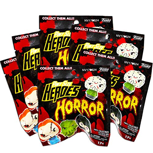 Pint Size Heroes Horror Mystery Packs Bundle ~ 6 Funko Pop Mystery Minis with Mini Figures Toys (Party Favors).