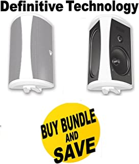 Definitive Technology AW 5500 Outdoor Speakers (Pair White) Bundle