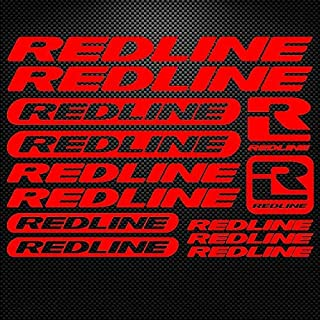 1 set for Redline Vinyl Sheet Bike Frame Cycling Bicycle Decal Motor Cartoon stickers car styling decorative car body stickers (red)