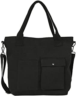 Women Solid Zipper Bags Literary Simple Messenger Bag Canvas Bag Shoulder Bag