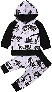 Glosun Newborn Baby Hoodie Tops + Floral Pant Leggings Outfits Baby Kids Clothes Set 2Pcs