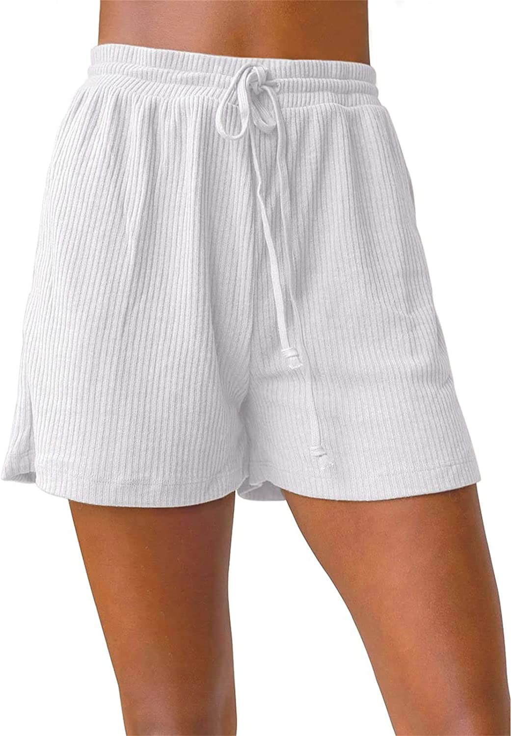 Loose Beach Shorts for Department OFFicial shop store Women Knit Drawstring Solid Color Short P
