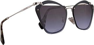 Miu Miu MU54TS Sunglasses Blue w/Violet Gradient Grey 64mm Lens UE62F0 MU 54TS SMU 54TS SMU54T