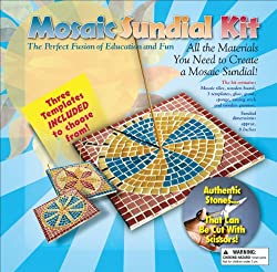 Aquastone Group Mosaic Sundial Kit, 8-Inch-by-8-Inch