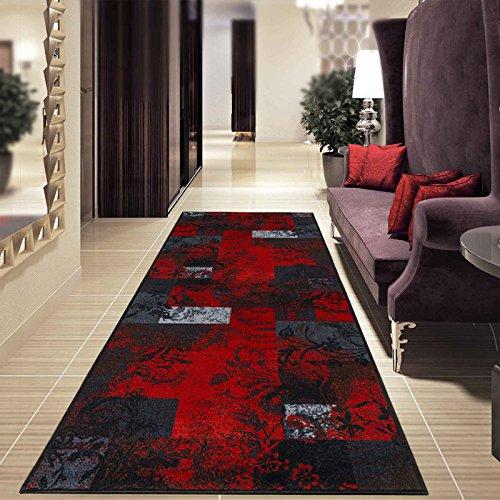 Teppich-Läufer auf Maß Maraba | Moderner Wohnteppich für Flur, Küche, Schlafzimmer | Meterware, viele Größen | rutschfest, robust & pflegeleicht (80 x 350 cm)
