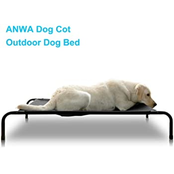 ANWA Elevated Dog Cot Bed, Outdoor Dog Bed Large Dogs, Durable Dog Raised Bed