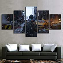 Tom Clancy's The Division 2 Game Wall Pictures Painting Poster 5 Piece Home Canvas for Living Room Wall Decor Home Decor (...