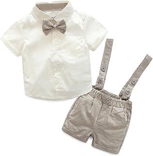 8d80184f K-youth® Conjuntos Bebé Niño, Ropa Recién Nacidos Bebe Niño Camiseta Mangas  Cortas