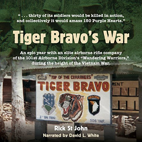 Tiger Bravo's War audiobook cover art